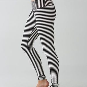 Rare 🦄 Lululemon Stripe Leggings Size 6